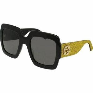 Gucci Square Style Sunglasses W/Grey Lens